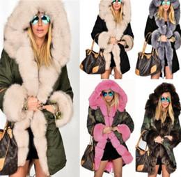 pele aparada casaco parka Desconto Inverno forrado de pele parka jaqueta magro com capuz Casaco Quente Guarnição Da Pele Parka Engrossar Casacos mulheres casaco de lã casaco