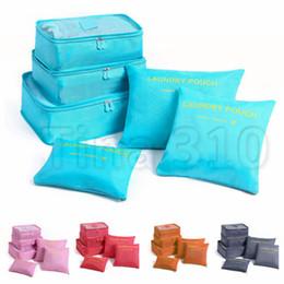 2019 modelos de sacos de viagem 10 modelos 1 conjunto de 6 saco cosmético grande capacidade de mochila, moda portátil sacos de viagem de armazenamento de acabamento suprimentos T2I594 desconto modelos de sacos de viagem