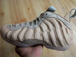 online retailer c8621 2bb48 Penny Hardaway Hommes chaussures de basket-ball Mousse Posite Pro PRM QS  Vachetta Tan Rose Or Hommes Designer Sports baskets avec boîte chaussure  posite pas ...