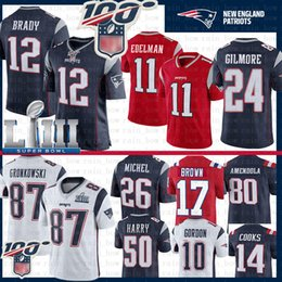 Rob on-line-Rob Gronkowski 12 Tom Brady New Jersey Englands Antonio Brown Patriot Julian Edelman Hightower Sony Michel Gilmore Gordon Cooks Amendola