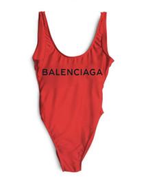 Europe et Amérique Designer De Luxe lettre maillot De Bain Dos Nu Impression Triangle One-Piece Maillot De Bain Gilet Sexy Bikini discothèque costumes ? partir de fabricateur