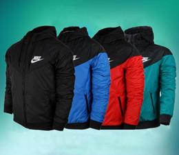 couple chaud Promotion 2019 nouveaux manteaux pour hommes manteaux broderie classique NIKE Down Parkas coton casual vêtements vestes manteau de haute qualité mode coton