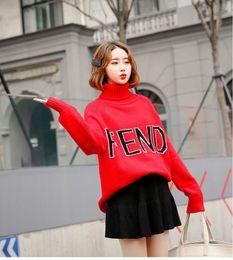 Xl vestidos de malha on-line-Últimas Estilo Quente Outono e Inverno Moda hoodie De Malha Camisola Vestidos com Tripulação Pescoço Longo Pullover Camisola