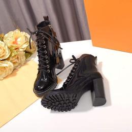 Femmes Chaussures Designer Femmes Talons Marque Designer Chaussures 2019 Nouvelle Mode De Luxe Designer Femmes Chaussures plate-forme Booties avec boîte ? partir de fabricateur