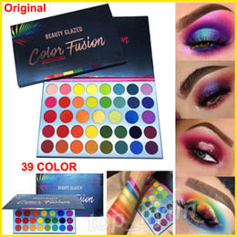 eye shadow eyeshadow makeup palette Promo Codes - Beauty Glazed Makeup Eyeshadow Palette Color Fusion Eye shadow 39 Colors High Pigmented Matte Shimmer Glitter Rainbow Highlighter Palette