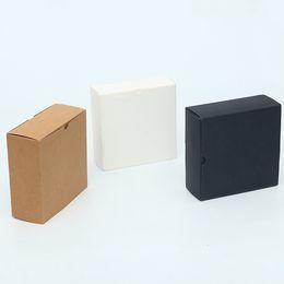 papierverpackung keksbox Rabatt Kraftpapier Box schwarz weiß Papier Schublade Box für Tee Geschenk Unterwäsche Keks Verpackung Karton kann angepasst werden 32X20X5cm 28X14X5cm