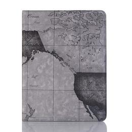Lederkarten online-3 Farben Premium Exquisite Map Ultradünne Hülle für das iPad Mini 2 3 4 Series Hülle Brieftaschenetui aus Leder mit Halter und Folio-Hülle für das iPad Air