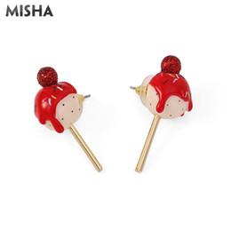 brincos de raparigas Desconto MISHA Brincos Bonitos Para As Mulheres Esmalte Handmade Esmalte Chupa-Chupa Brincos Encantos Jóias Para Meninas Jovens Senhoras Presentes L881