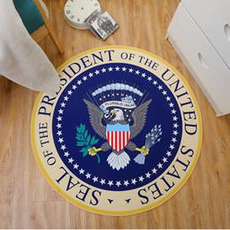 tappeti intrecciati all'ingrosso Sconti American Eagle rotonda 60cm bagno rotonda Tappeti Tappeto per soggiorno di moda da letto antiscivolo tappetini sedie per sala Kid Zerbino