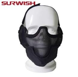 2019 protetor de airsoft Máscara de Airsoft Máscara de Sobrevivência Meia Máscara de Sobrevivência Ao Ar Livre Caça Protetora Máscara de Paintball Partido Tático Máscara protetor de airsoft barato