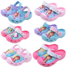 2020 pattini del gattino di ciao dei bambini Pantofole da bagno Princess Snow Queen 2018 Hello Kitty Scarpe da nuoto Scarpe da bambino per bambini Pantofole per bambini Ragazza carina pattini del gattino di ciao dei bambini economici