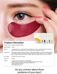 24k d'or Promotion Dropshipping LANBENA 24K Gold Eye Mask Collagène Collagen Eye Patchs Anti-Cernes Puffiness Eye Bag Soin Hydratant pour la peau