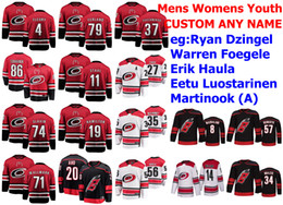 ryan dzingel jersey  Promotion Carolina Hurricanes Jerseys Ryan Dzingel Jersey Warren Foegele Brian Gibbons Erik Haula Eetu Luostarinen Ice Hockey Jerseys Custom Stitched
