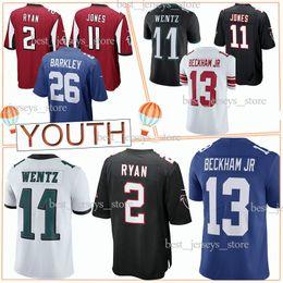 c37fa85c099 YOUTH 26 Saquon Barkley 22 Gaint Atlanta 11 Falcon Philadelphia 33 Eagle  New York jerseys 13 Odell Beckham Jr jersey Kids top philadelphia eagles  jerseys on ...