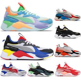 Puma avec ChaussettesPuma rs x transformateurs de jouets réinvention hommes femmes chaussures de course Trophy BLEU ATOLL formateurs hommes baskets de