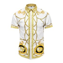 colar material camisa Desconto Seestern Roupas de marca Camisas de vestido 3D impressão Medusa camisas homens manga longa festa club designer tops homem boate cobra