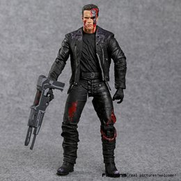 "Brinquedos terminadores on-line-O Exterminador do Futuro T-800 Arnold Schwarzenegger Pvc Action Figure Collectible Modelo Toy 7 ""18 cm Y190604"
