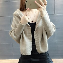 2cc23fb5fe Women 2018 Autumn Winter Knitted Cardigans Sweaters Batwing Sleeve Short  Cardigan Coat Female Casual Loose Warm Sweater NS3993