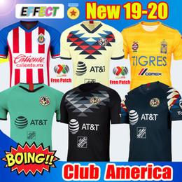 Nuovo arrivato 2019 20 Maglie di calcio Club America Soccer Jerseys Kit 2020 Messico Club de Cuervos Home Away Terzo kit di Guadalajara Chivas 19 20 Maglie di calcio da