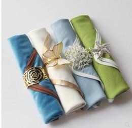 Serviettes tissu échantillon de boucle table européenne couleur en salle tissu en repas table hôtel la d bouche serviettes de en de pour dressée unie P8n0wkNOX