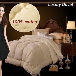 Colcha de seda de luxo 100% tecido de algodão / colcha de inverno / roupas de cama / Consolador / fofo / de alta qualidade, família set colcha, colcha de quatro estações de