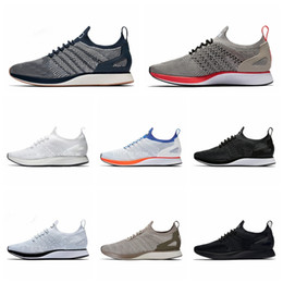 2021 mariah fly racer Nike Flyknit Racer Air Zoom Mariah 2019 Top Uomo Donna Casual Fly Racer Trainer Chukka Nero Rosso Blu Grigio Leggero Scarpe casual traspiranti EUR 36-45