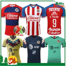 2019 CHIVAS Guadalajara club world cup LIGA MX Club America UNAM maglia da calcio Club de Cuervos 19 20 calcio cheap mx jersey xl da mx jersey xl fornitori