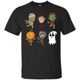 606511421 ghost t shirts Canada - Halloween Black T-shirt Ghost Halloween Costume  Party Shirt Short