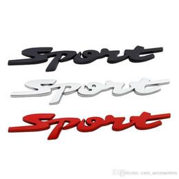 Emblema de esportes metal on-line-Carro Metal 3D Adesivos Decoração Esporte Acessórios Universal Car Modificação emblemas Badges decalques Auto Styling etiqueta