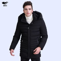 2c332591ba36 mens winter anorak Coupons - HAI YU CHENG Mens Hooded Jackets Male Winter  Coats Long Trench