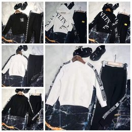 Vestidos de lã de manga comprida on-line-Designer de Roupas Kid Set Para O Bebê Menino Menina Outono Inverno Vestido de Marca Barato Duas Peças Set Longo Da Luva Longa Pant Alta Qualidade Marca Set