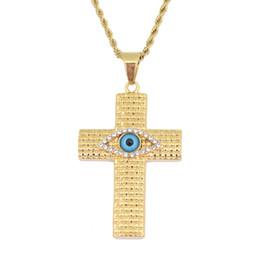 Cruz do mal on-line-2019 homens de moda de nova tendências de alta qualidade de luxo hot evil eyes colar de pingente de cruz bonito dj ornamentos