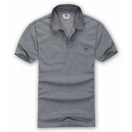 Verano de lujo francés camiseta diseñador de la camisa Polo polo alto bordado cocodrilo camisa Polo ropa de marca de ropa para hombres desde fabricantes