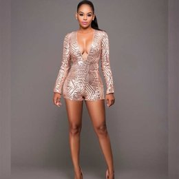 034df8a904 MUXU bodysuit women body mujer for women long sleeve jumpsuits gold sequin  glitter backless jumpsuit rompers bodies short