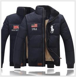 capucha chaqueta de pana Rebajas 2019 Diseñador USA Reino Unido bandera de polo EE. UU. Inglaterra invierno yrf chaqueta abajo juvenil casual Paul masculino, versión corta gruesa europea de la chaqueta