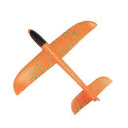 diy toy plane Promo Codes - 48 Cm Foam DIY Plane Throwing Glider Toy Airplane Inertial Foam EPP Hand Flying Model gliders Outdoor Fun Sports Planes toy for Children