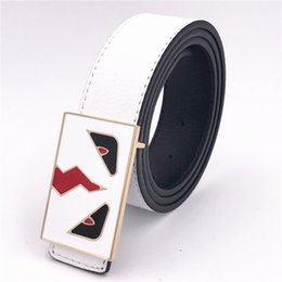 Argentina Italia Diseñador de la marca Big Eyes Cinturones Moda Hombres Jeans Cinturón de cuero Vestido de las mujeres Correas de la cintura Unisex Hip Hop Ocio Cinturón Suministro