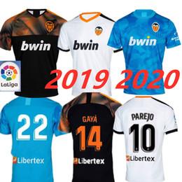 Beste trikots online-Neu 2019 2020 Valencia Soccer Jersey Unterhemd Valencia 19 20 Bestes 3A-Qualitäts-Fußballtrikot Parejo Batshuayi Gameiro