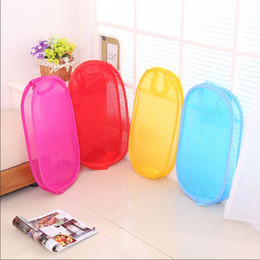 2021 pop up sacs de rangement Pliable Mesh Laundry Basket Pop Up linge sale lavage Paniers Corbeille à linge Hamper sac de rangement Organisateur Stockage Fournitures DBC DH1234