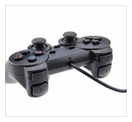 playstation wireless controllers wholesale Coupons - Double Shock Gamepad Wired Controller para for PS2 Joystick Gamepad For Game Console Playstation 2 Black