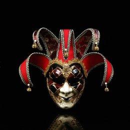 augenpflege tropfen Rabatt Halloween schwarz-weiß Clown Maske / Parodie Horror Maske Prom Performance Show Dress Up Requisiten Clown Maske