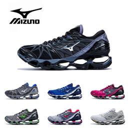 scarpe da tennis rosa verde Sconti Nuovo originale MIZUNO WAVE Prophecy 7 scarpe professionali per uomo donna nero grigio argento verde viola rosa Sneaker sportiva atletica Taglia 36-45