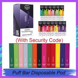 2019 cartouches de kit de démarrage 2019 New Puff Bar à usage unique Pod Starter Kit 280mAh batterie avec cartouche 1,3 ml appareil pods Vape Pen 16 Saveurs
