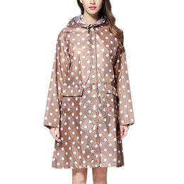 2019 casaco de chuva para meninas Roupas das mulheres ponto peint Botão de Chuva Ao Ar Livre À Prova D 'Água À Prova de Vento Casaco meninas outwear onda chuva clothing windbreaker desconto casaco de chuva para meninas