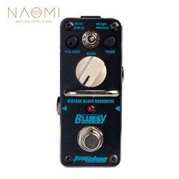 Canada NAOMI Aroma ABY-3 Pédale d'effet guitare Bluesy Vintage Blues Overdrive Pédale d'effet guitare électrique? True Bypass Offre
