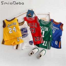 2019 camicie all'ingrosso dell'increspatura del bambino Newborn Baby Set 2019 Sport Boys Tee Shirts + short Due Pezzi Imposta alfabeto stampato Sport 2PCS