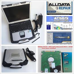 2019 plug de diagnóstico obd2 2019 venda quente alldata V10.53 e Mitch * ll v5.8 ATSG reparação macio-ware e Panasonic Toughbook CF30 CF30 frete grátis Laptop