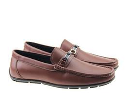 2019 zapatos hombre cuero mocasín casual La mejor calidad de cuero real de cuero de vaca de los hombres zapatos casuales diseñador de lujo mocassin zapatos de vestir zapatos hombre hombre 40-46 zapatos hombre cuero mocasín casual baratos