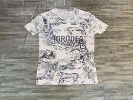 Marcas de camisetas de china online-Hombres y mujeres camiseta algodón estilo chino con cuello redondo manga corta 2019 nueva camiseta modelos de pareja marea marca summ