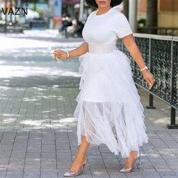 Сексуальное короткое платье молодое онлайн-оптовые CX121 Новое платье высокого класса Sexy отдыха Неопрятная Молодые моды с коротким рукавом белый Высокая талия женщин торт бальное платья макси